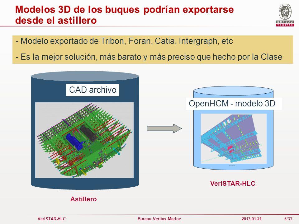 Modelos 3D de los buques podrían exportarse desde el astillero