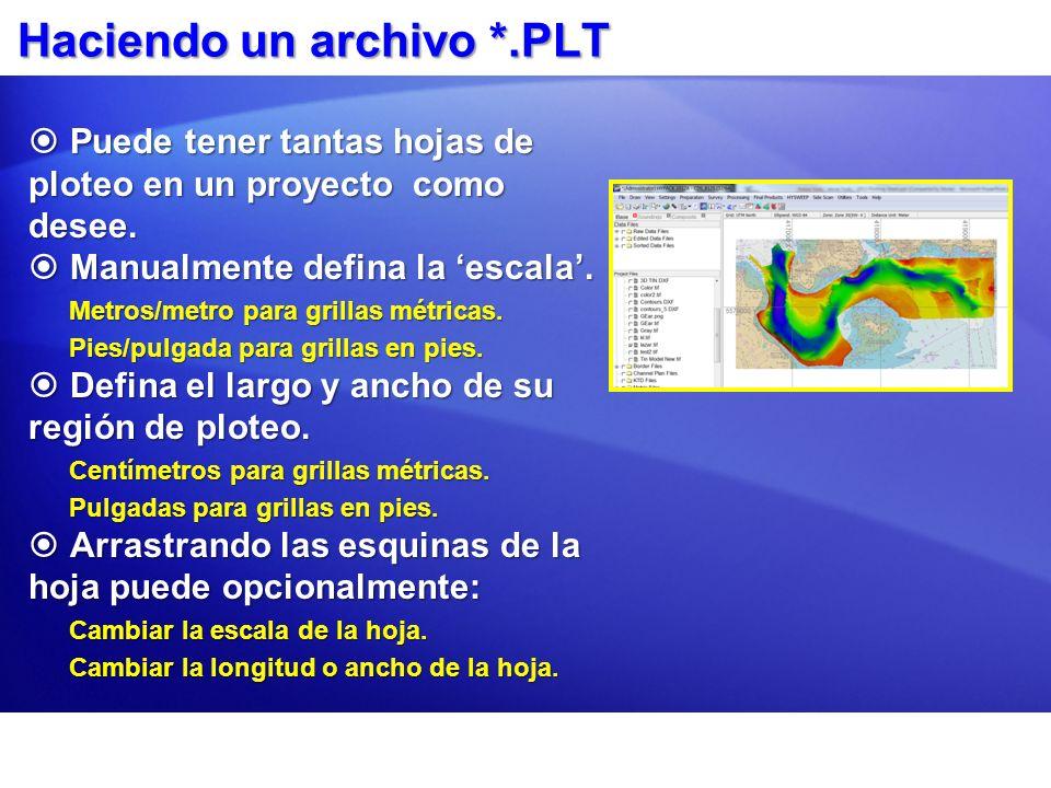 Haciendo un archivo *.PLT