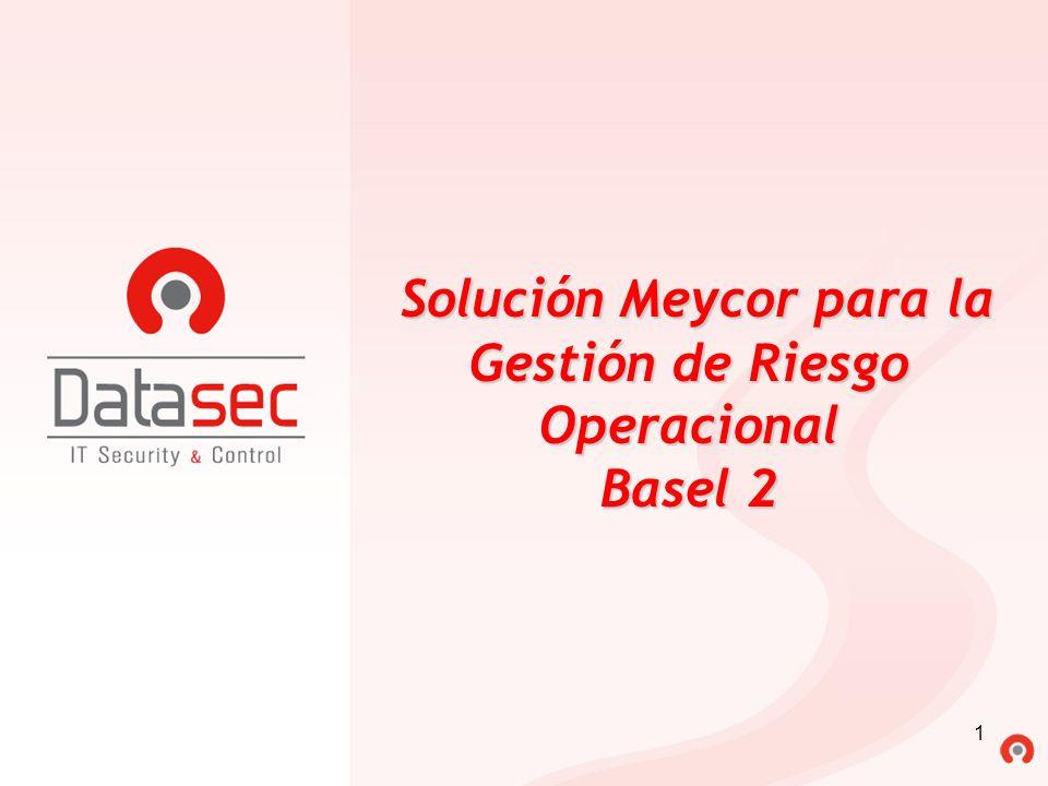 Solución Meycor para la Gestión de Riesgo Operacional Basel 2