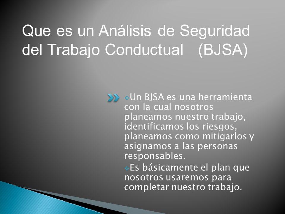 Que es un Análisis de Seguridad del Trabajo Conductual (BJSA)