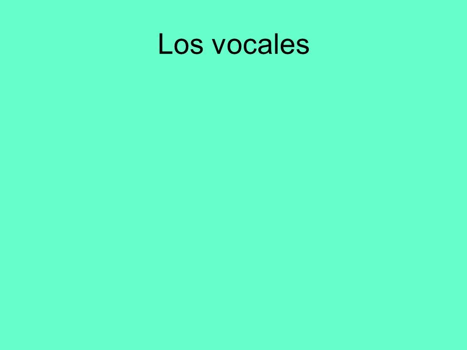 Los vocales