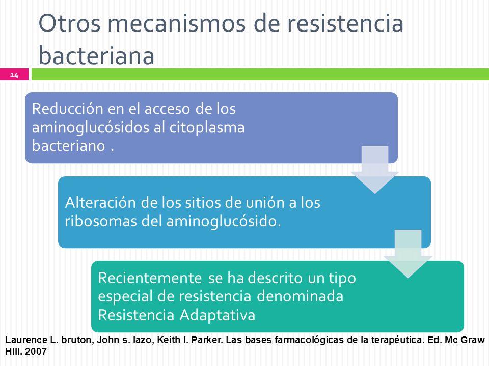 Otros mecanismos de resistencia bacteriana
