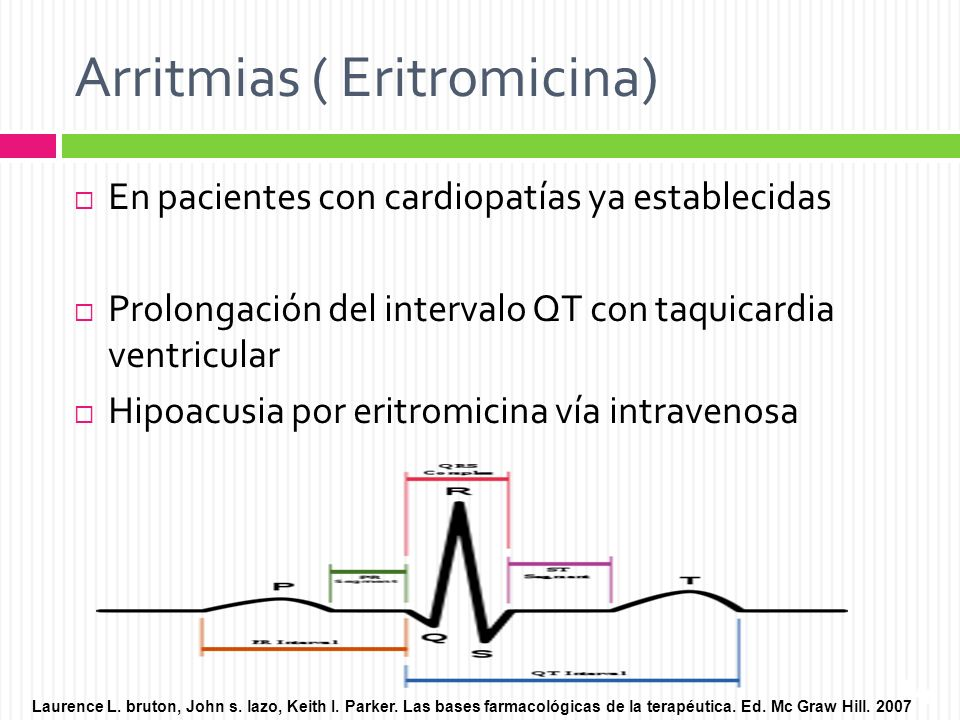 Arritmias ( Eritromicina)