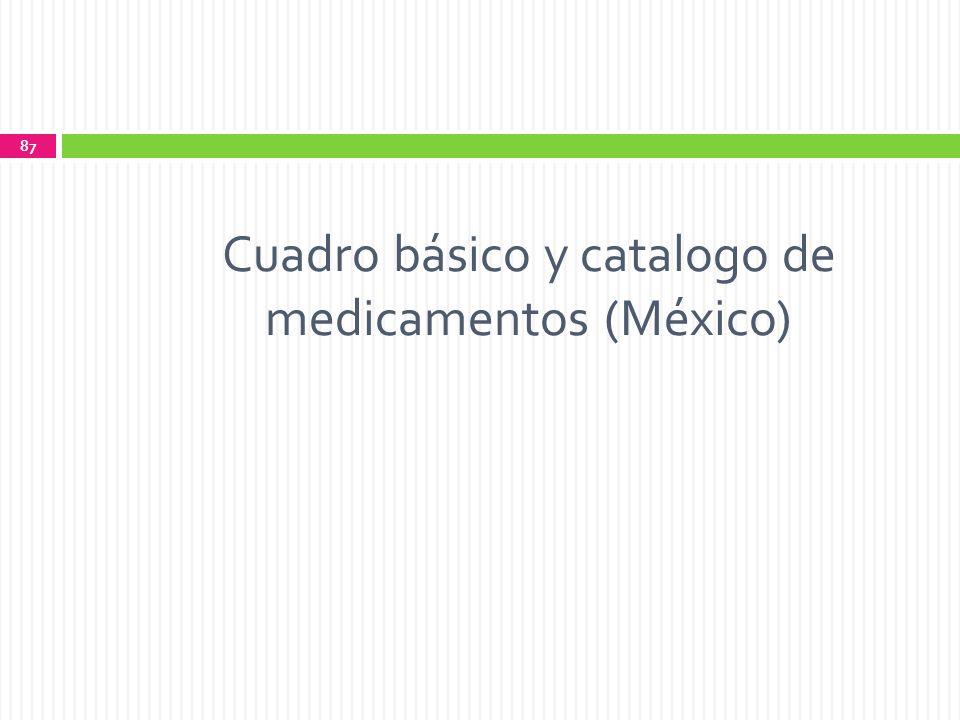 Cuadro básico y catalogo de medicamentos (México)