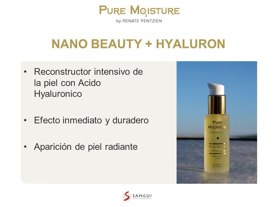 NANO BEAUTY + HYALURON Reconstructor intensivo de la piel con Acido Hyaluronico. Efecto inmediato y duradero.