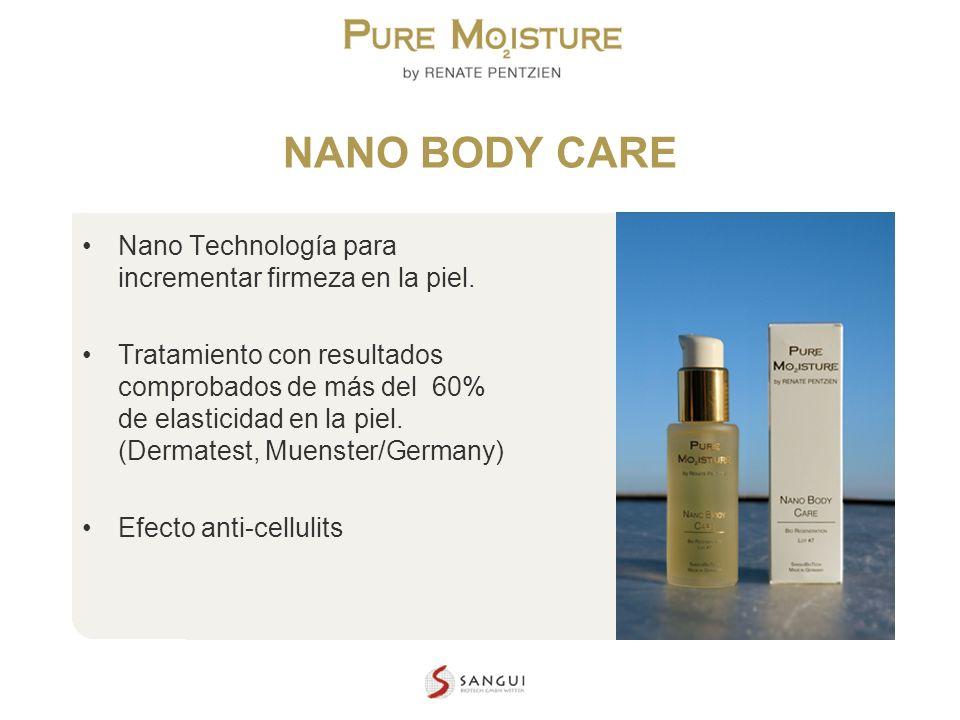 NANO BODY CARE Nano Technología para incrementar firmeza en la piel.
