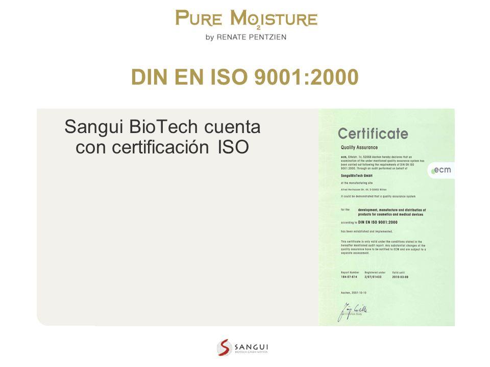 Sangui BioTech cuenta con certificación ISO