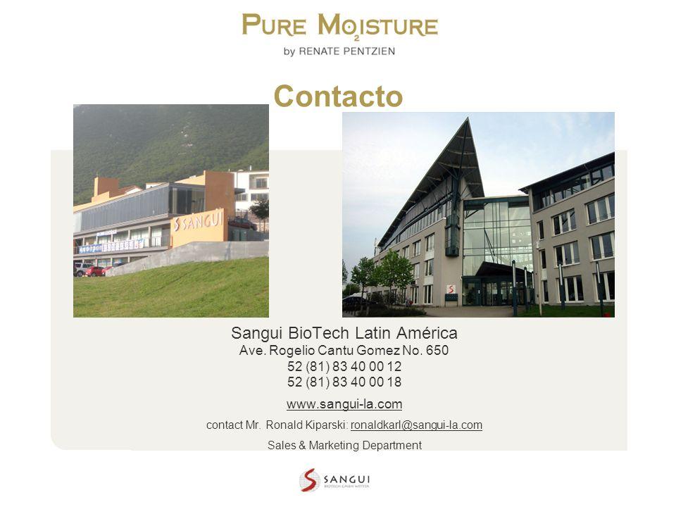 Contacto Sangui BioTech Latin América Ave. Rogelio Cantu Gomez No. 650