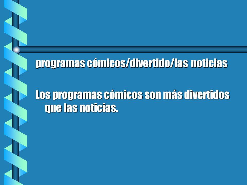 programas cómicos/divertido/las noticias