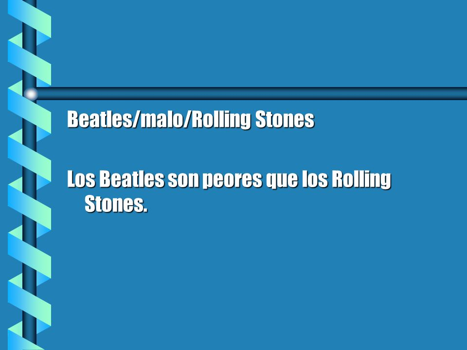 Beatles/malo/Rolling Stones