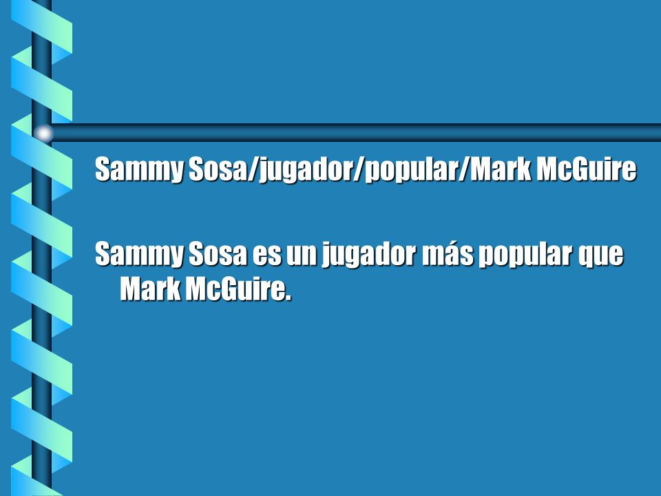 Sammy Sosa/jugador/popular/Mark McGuire