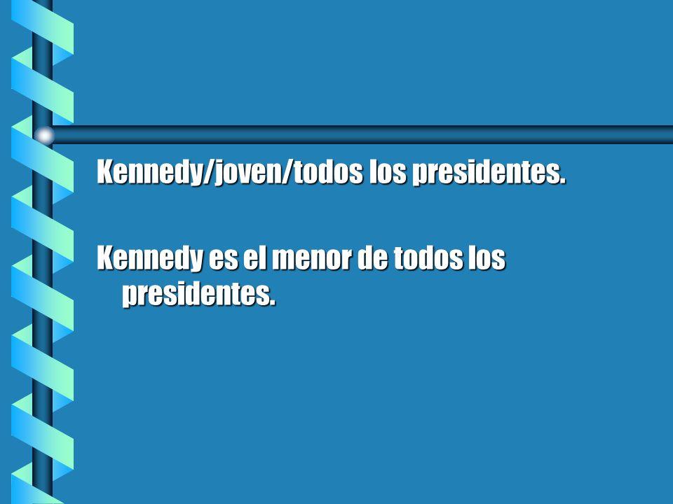 Kennedy/joven/todos los presidentes.