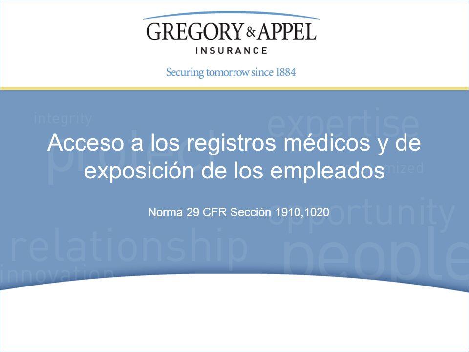 Acceso a los registros médicos y de exposición de los empleados