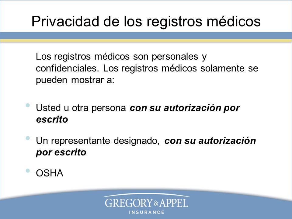 Privacidad de los registros médicos