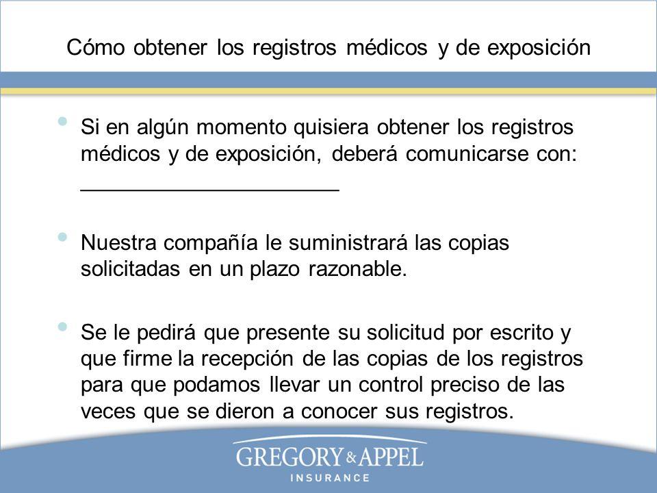 Cómo obtener los registros médicos y de exposición