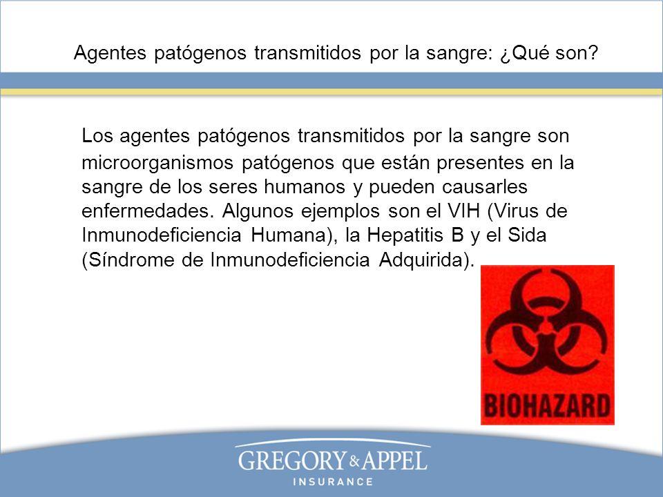 Agentes patógenos transmitidos por la sangre: ¿Qué son