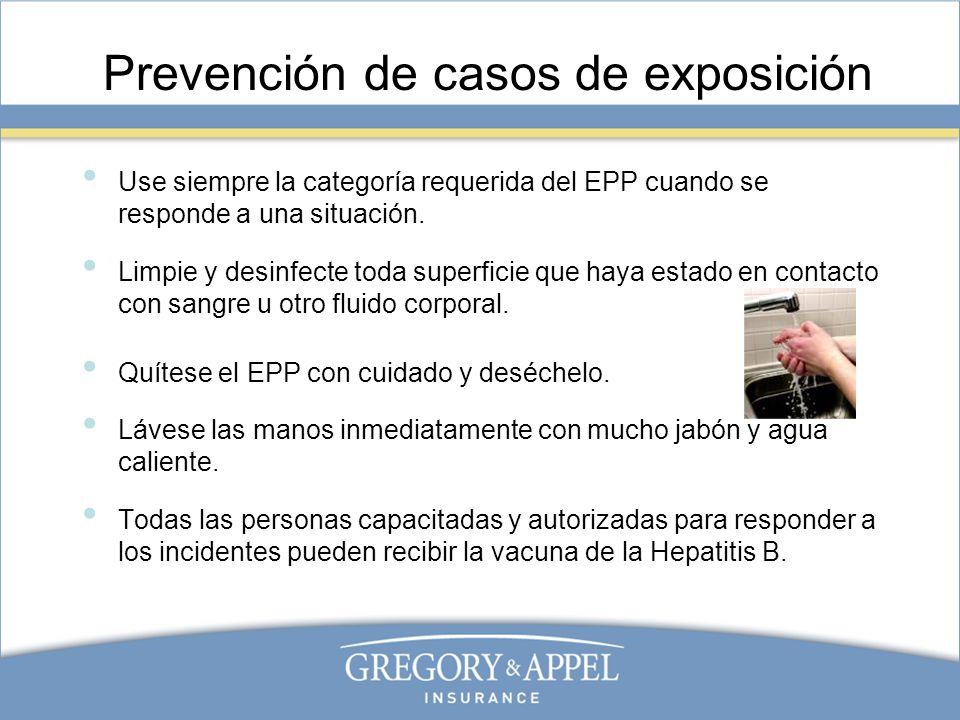 Prevención de casos de exposición
