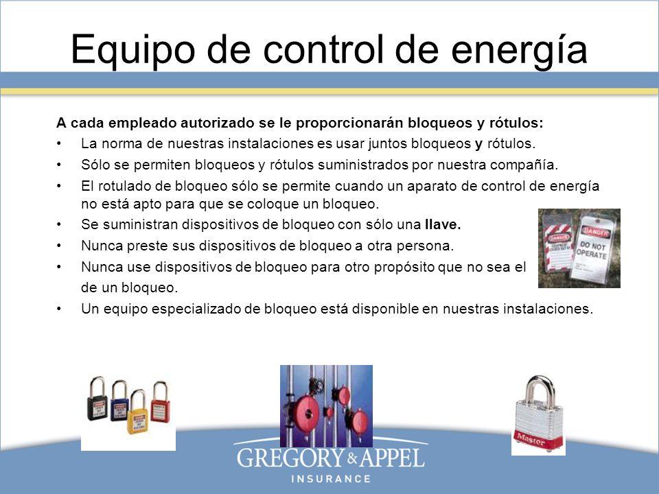 Equipo de control de energía