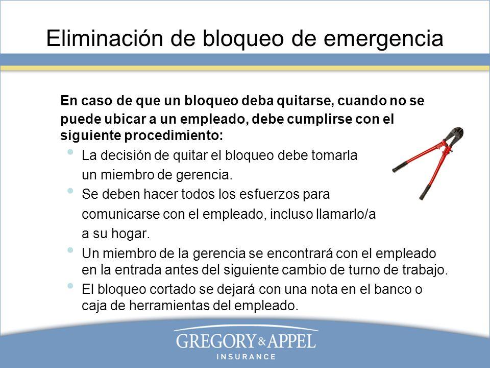 Eliminación de bloqueo de emergencia