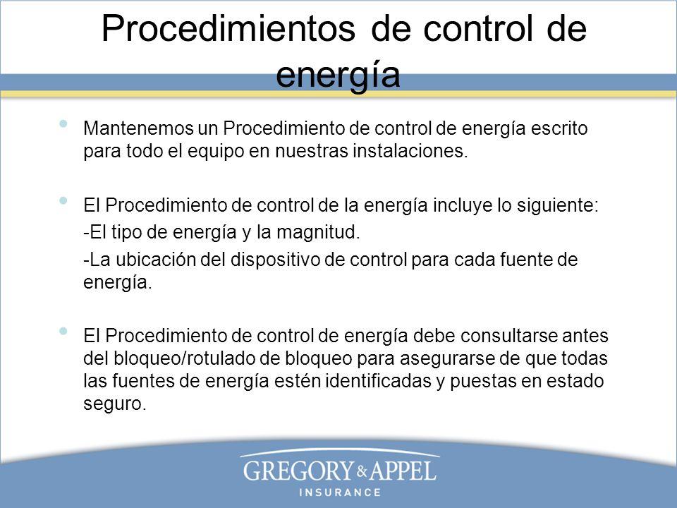 Procedimientos de control de energía