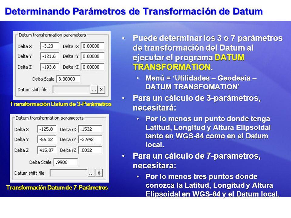 Determinando Parámetros de Transformación de Datum