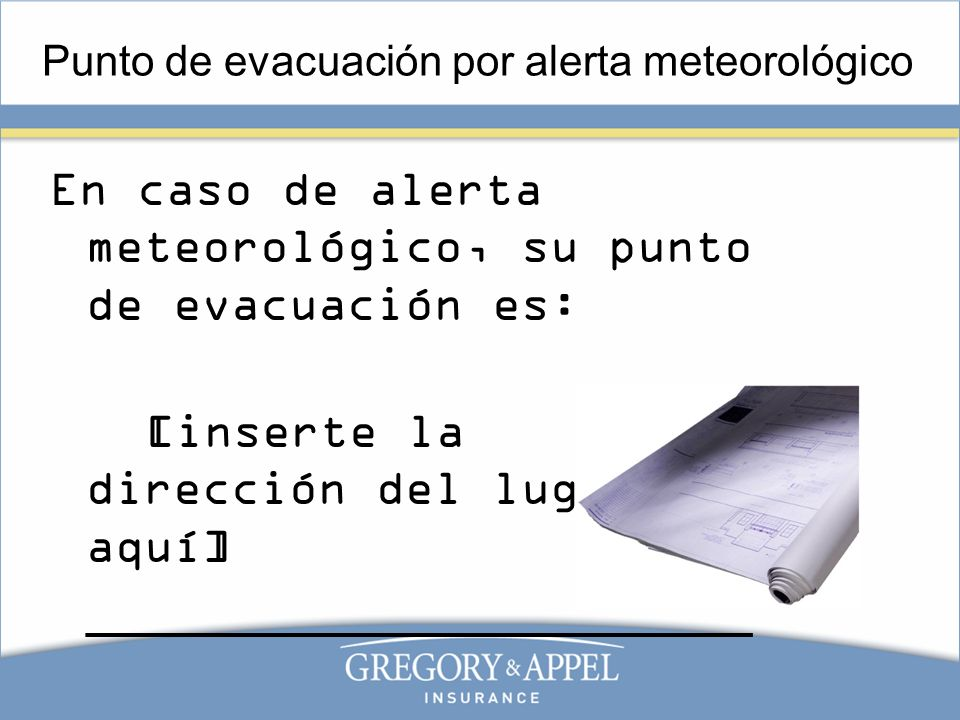 Punto de evacuación por alerta meteorológico
