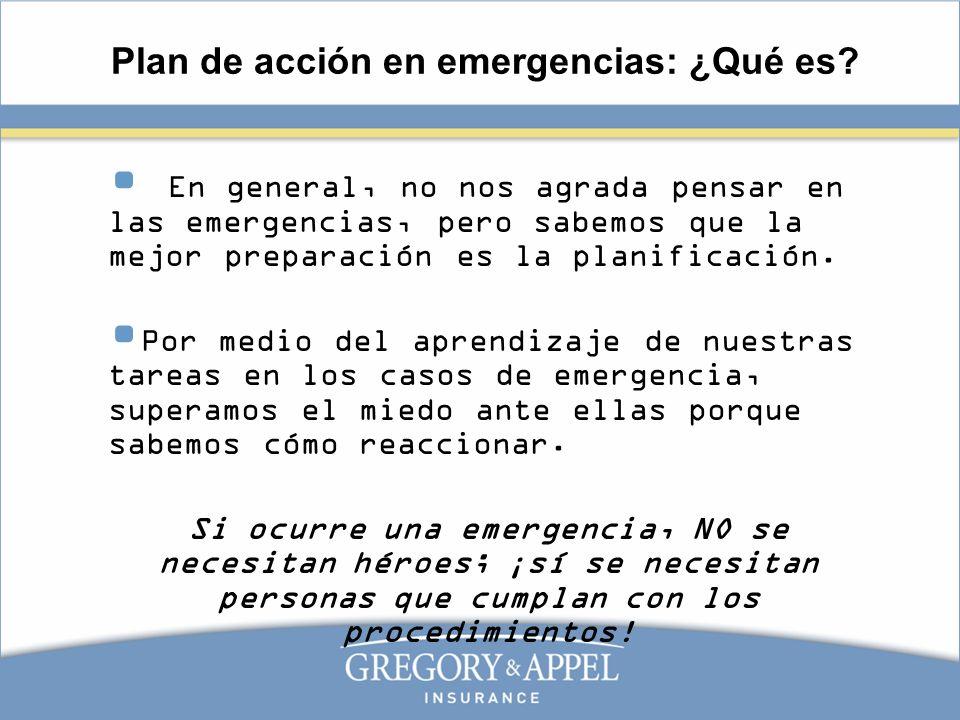 Plan de acción en emergencias: ¿Qué es