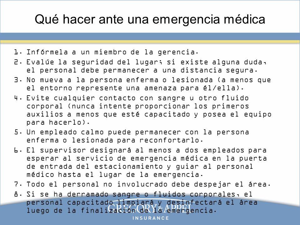 Qué hacer ante una emergencia médica