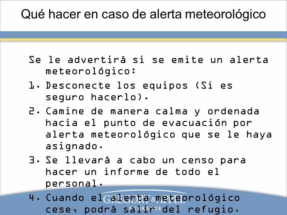 Qué hacer en caso de alerta meteorológico
