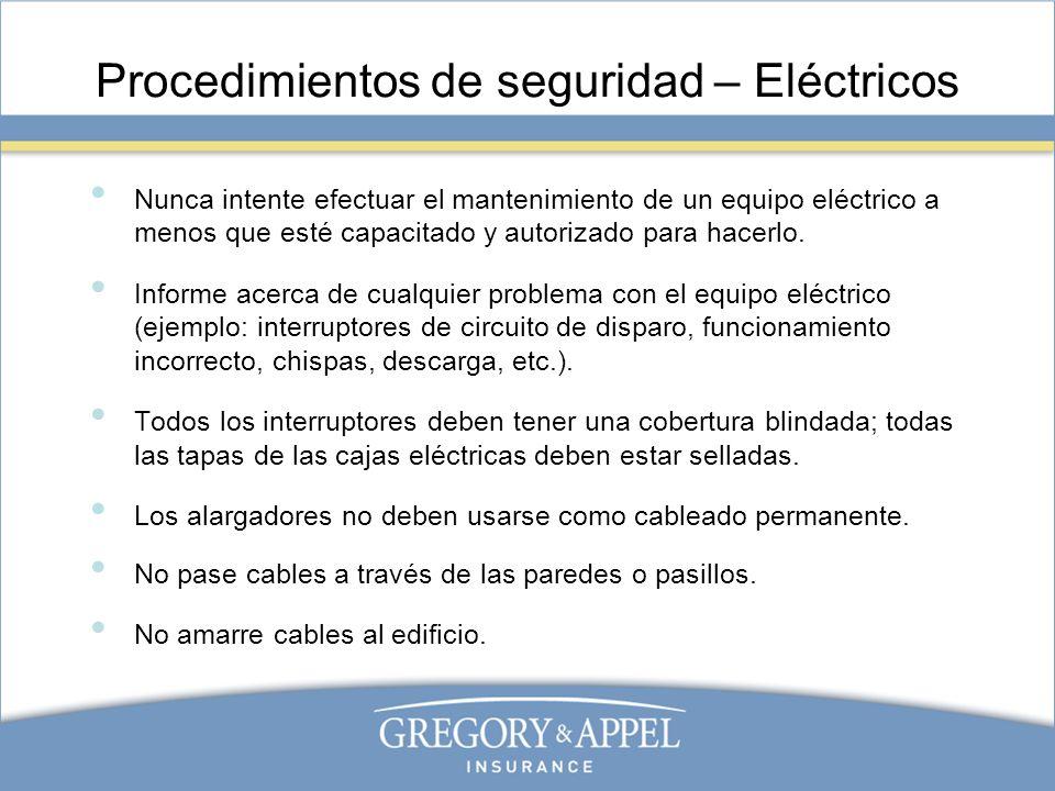 Procedimientos de seguridad – Eléctricos
