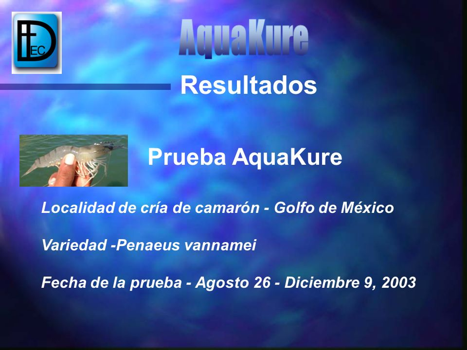 Resultados Prueba AquaKure AquaKure
