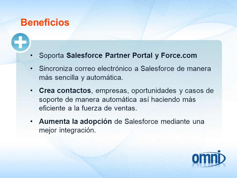 Beneficios Soporta Salesforce Partner Portal y Force.com