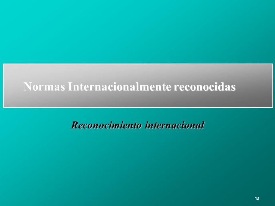 Normas Internacionalmente reconocidas