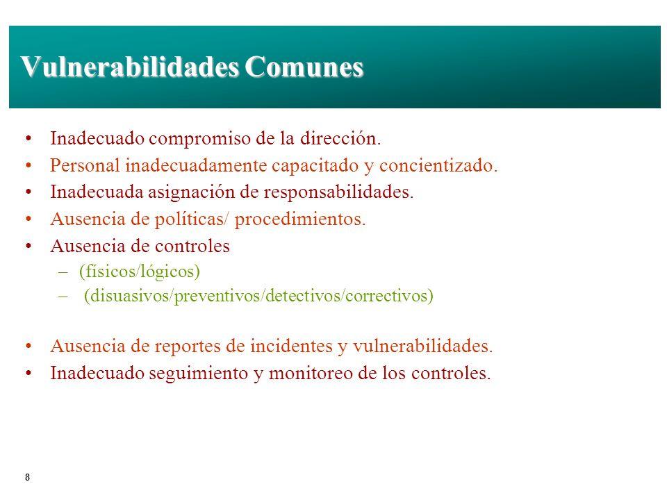 Vulnerabilidades Comunes