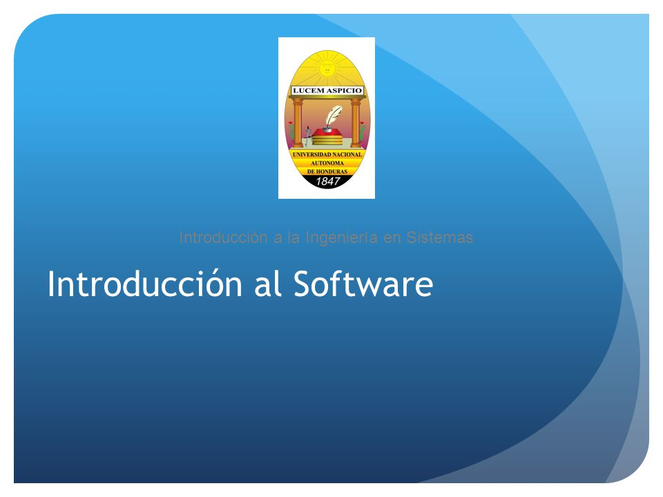 Introducción al Software