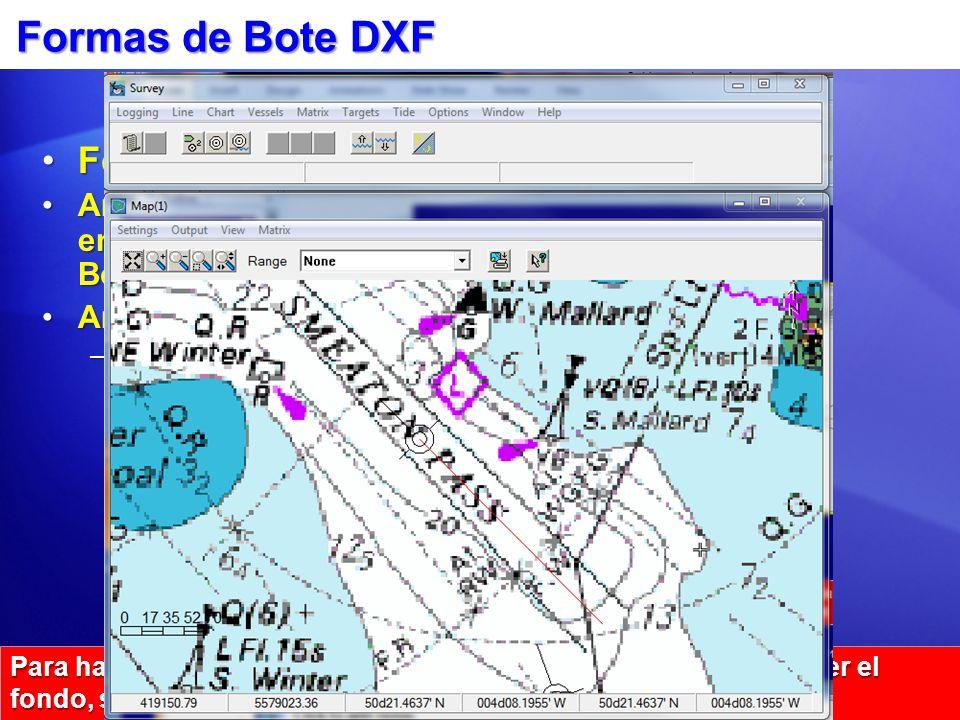 Formas de Bote DXF Formas: