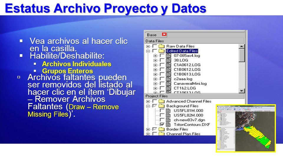 Estatus Archivo Proyecto y Datos