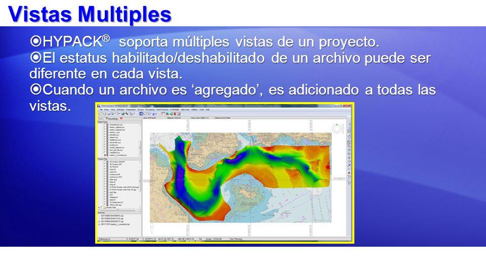 Vistas Multiples HYPACK® soporta múltiples vistas de un proyecto.