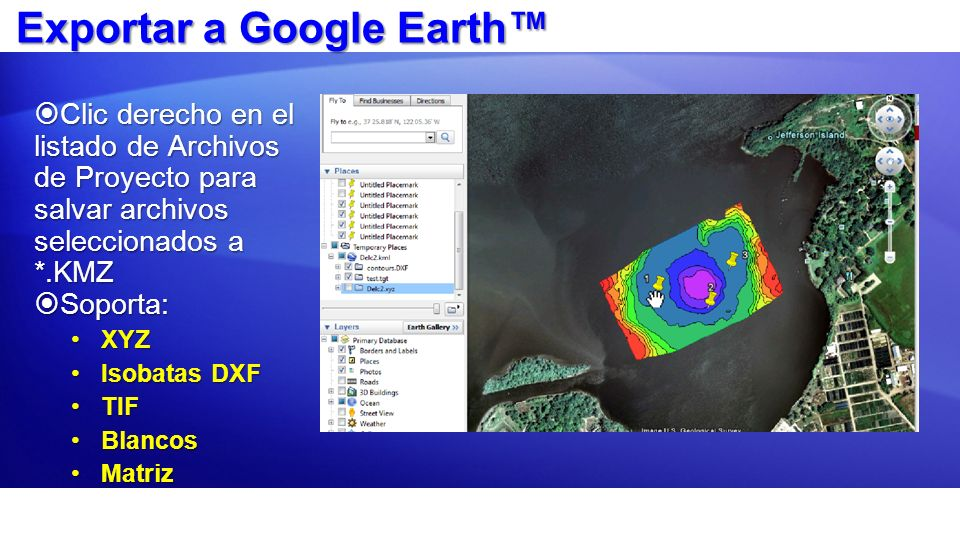 Exportar a Google Earth™