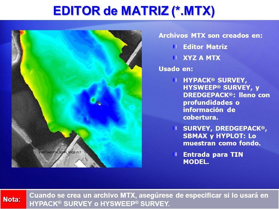 EDITOR de MATRIZ (*.MTX)