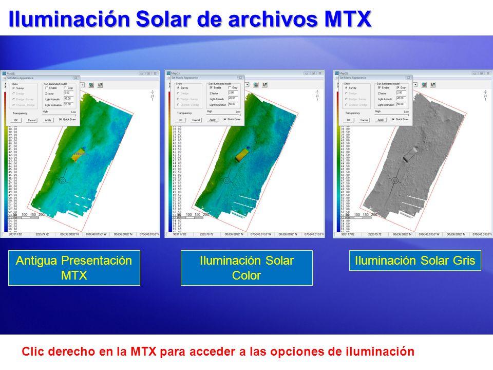Iluminación Solar de archivos MTX
