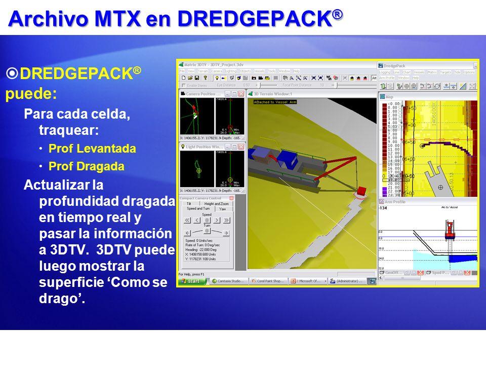 Archivo MTX en DREDGEPACK®