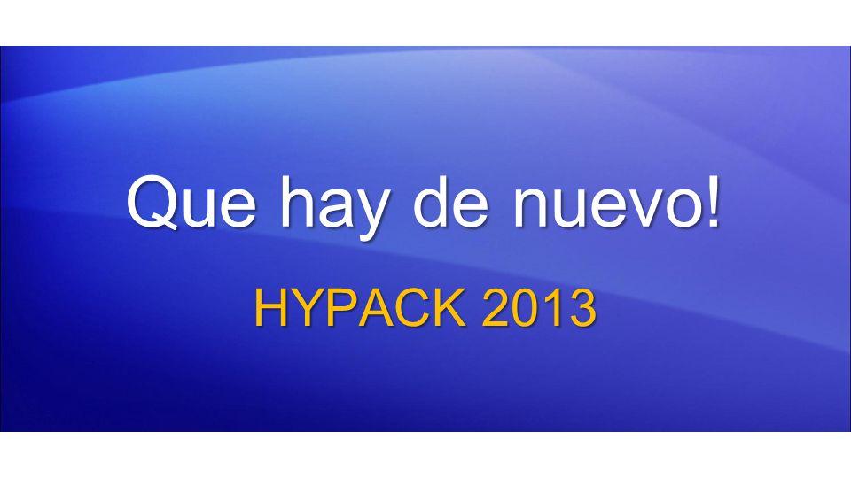 Que hay de nuevo! HYPACK 2013 1