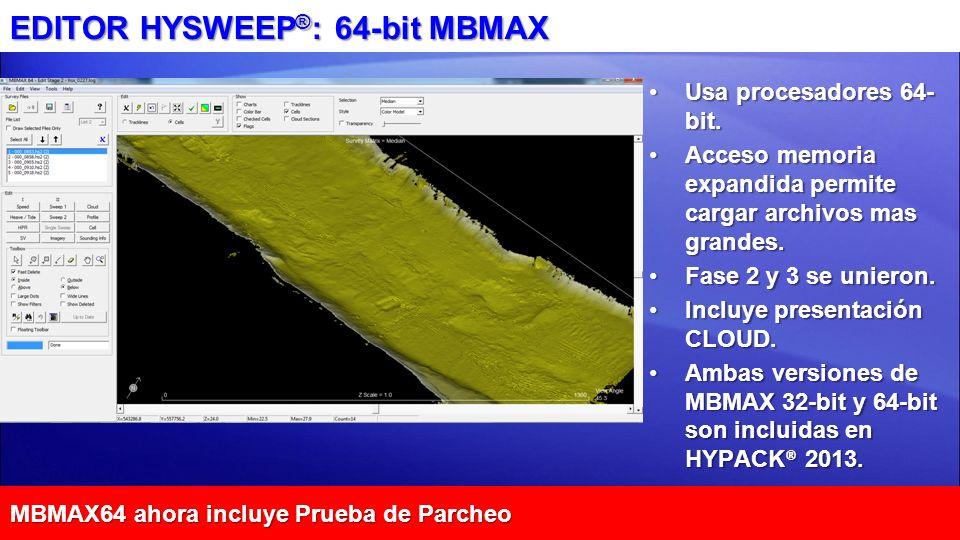 EDITOR HYSWEEP®: 64-bit MBMAX