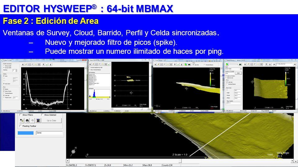 EDITOR HYSWEEP® : 64-bit MBMAX