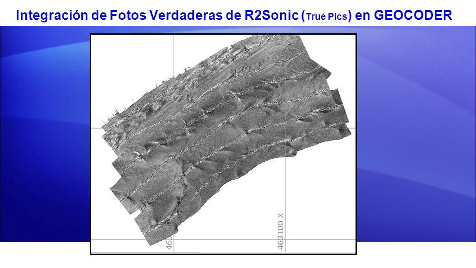 Integración de Fotos Verdaderas de R2Sonic (True Pics) en GEOCODER