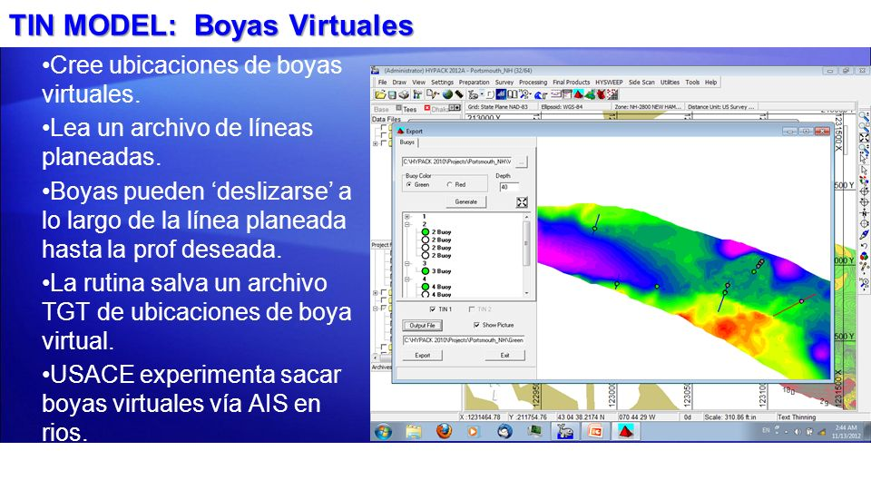 TIN MODEL: Boyas Virtuales