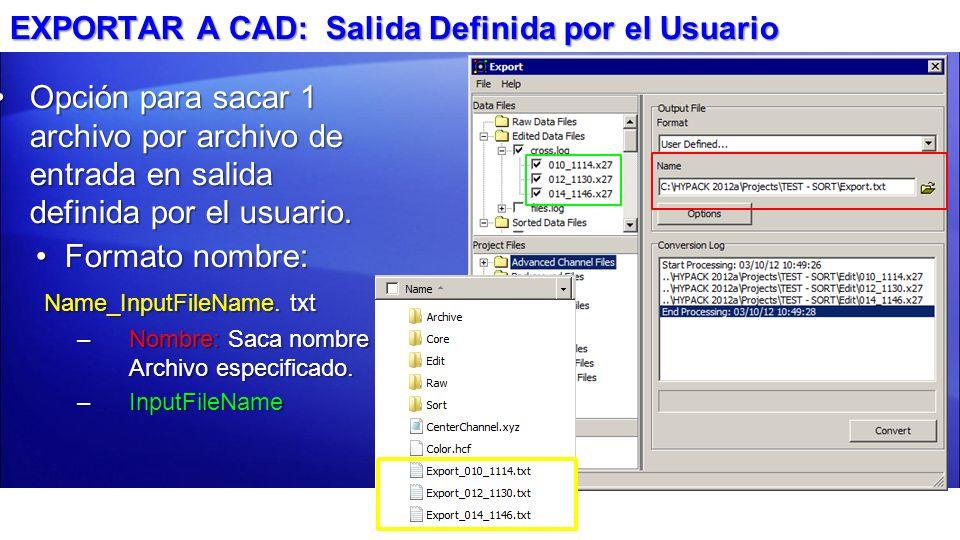EXPORTAR A CAD: Salida Definida por el Usuario