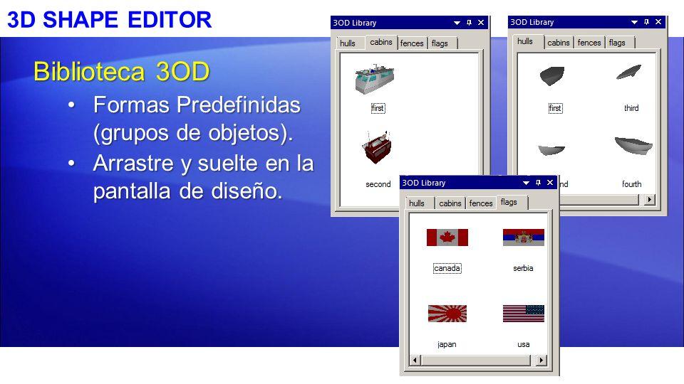 Biblioteca 3OD 3D SHAPE EDITOR