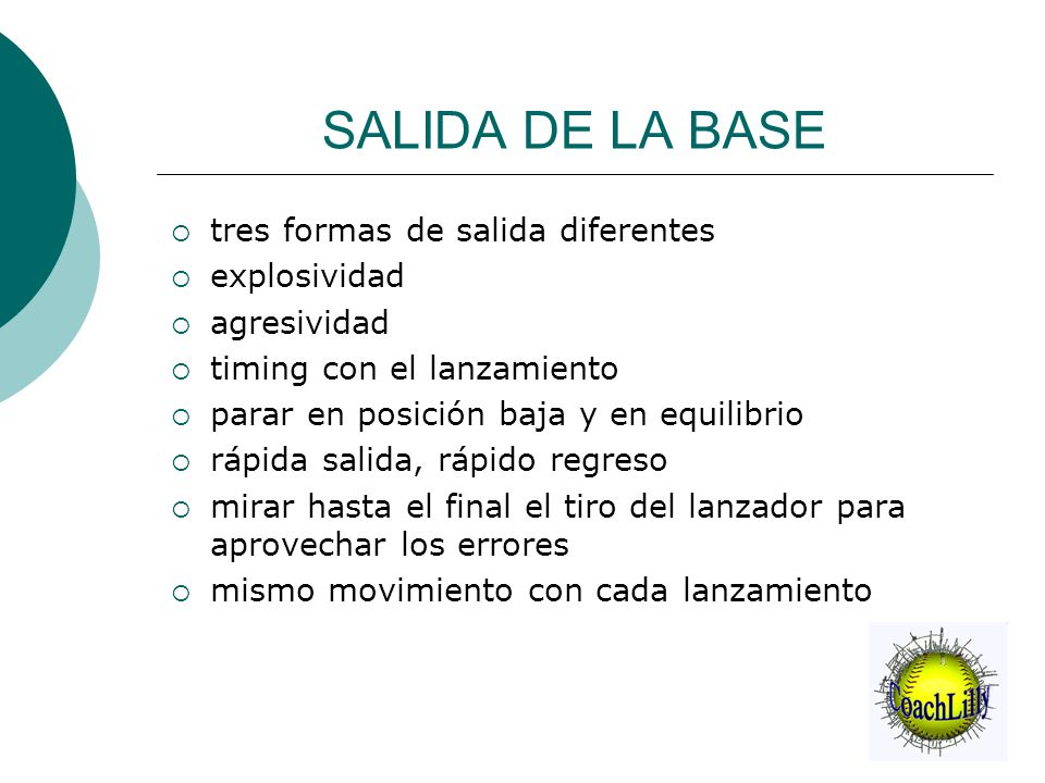 SALIDA DE LA BASE tres formas de salida diferentes explosividad